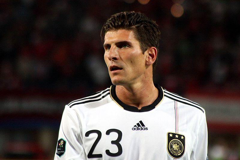 Mario Gomez im Trikot der deutschen Nationalmannschaft